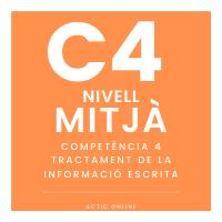 Nivell mitjà - C4 - Tractament de la informació escrita course image